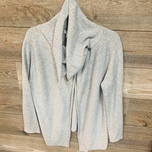 J. JILL women's cashmere cardigan Medium Gray